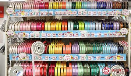 大阪必逛文具包装采购天堂「シモジマ 下岛包装广场・文具商城 心斋桥店」贩卖的各种包装材还有缎带