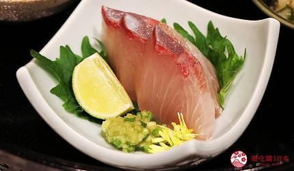 神户三宫A5和牛推荐「神戸牛ステーキ桜」的八寸五种前菜组合的生鱼片