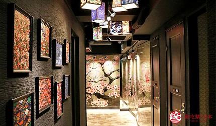 神户三宫A5和牛推荐「神戸牛ステーキ桜」的内部装潢相当和风