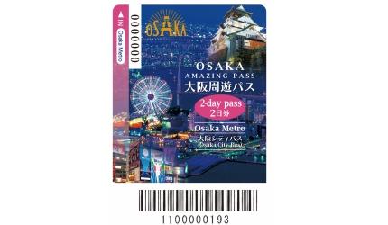 关西交通券大阪周游卡2日券