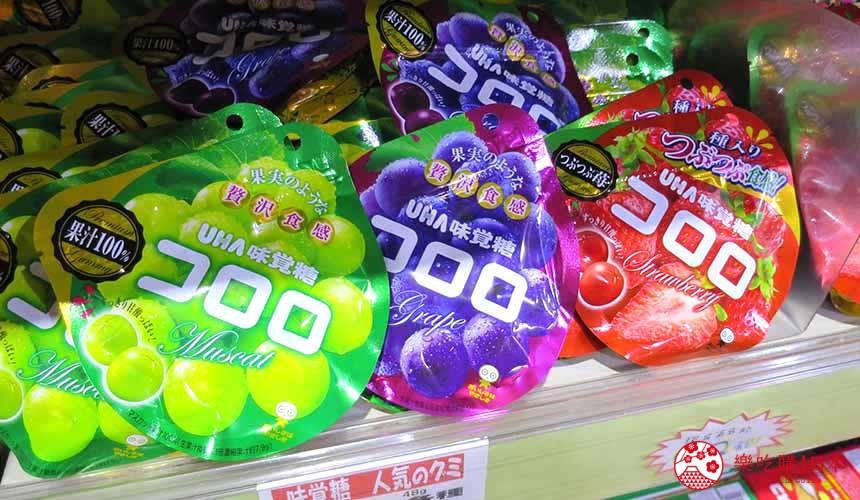 日本关西自由行必逛京都「高木批发超市」的贩卖的コロロ软糖