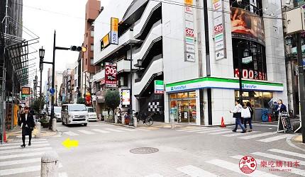 大阪心齋橋的超值居酒屋「きんいち花鳥風月」的交通方式步驟三