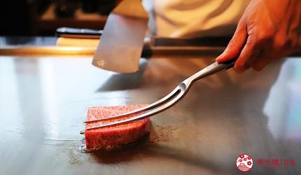 神戶米其林一星鐵板燒餐廳「雪月花 離れ」的鐵板燒過程