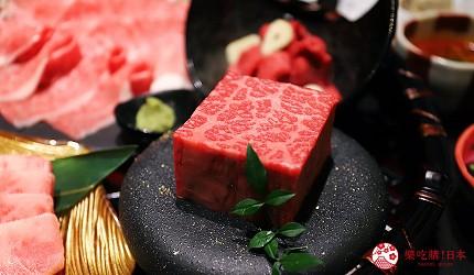 大阪難波高級和牛燒肉推薦「牛の蔵」的富士山套餐的「富士拼盤」的赤身燒肉
