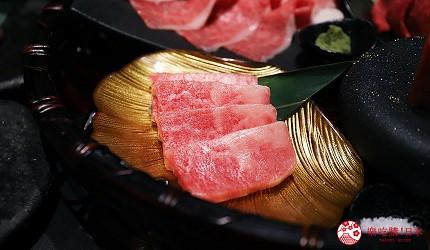 大阪難波高級和牛燒肉推薦「牛の蔵」的富士山套餐的「富士山拼盤」的本日上等部位