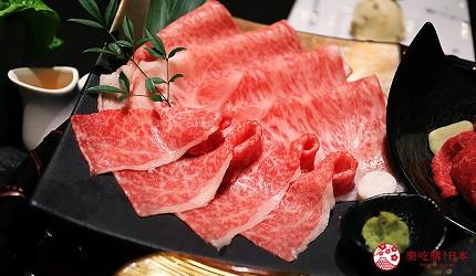 大阪難波高級和牛燒肉推薦「牛の蔵」的富士山套餐的「富士拼盤」的里脊燒烤涮肉