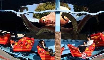 大阪推薦親子遊樂園「枚方公園」的遊樂設施「章魚冒險」(オクトパスパニック)