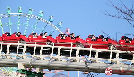 大阪推薦親子遊樂園「枚方公園」的雲霄飛車