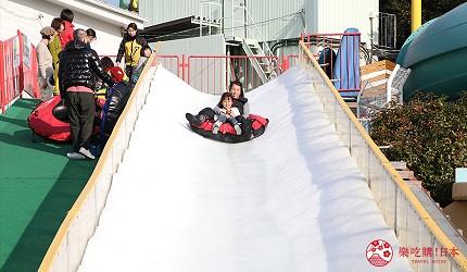 大阪推薦親子遊樂園「枚方公園」的冬季滑雪道