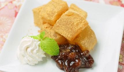 大阪心齋橋的超值居酒屋「きんいち花鳥風月」的日式甜點蕨餅