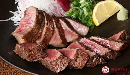 神戶三宮和牛推薦「寅松の肉たらし」的神戶牛與黑毛和牛的色澤