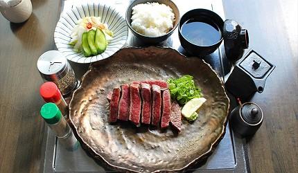 神戶三宮和牛推薦「寅松の肉たらし」的午餐時段