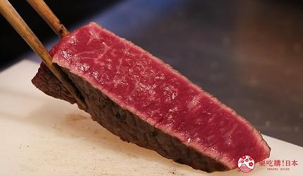 神戶三宮和牛推薦「寅松の肉たらし」的牛排現烤