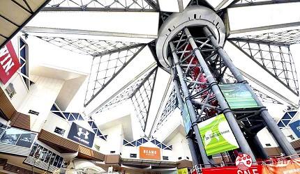 大阪市心斋桥可直达的超好逛「MITSUI OUTLET PARK 大阪鹤见」的商场一景
