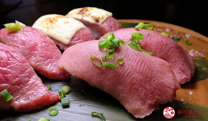 大阪在地人美食推薦「旨太郎」的上等牛舌壽司