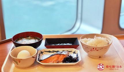 阪九邮轮船上餐厅美食海景日式早餐
