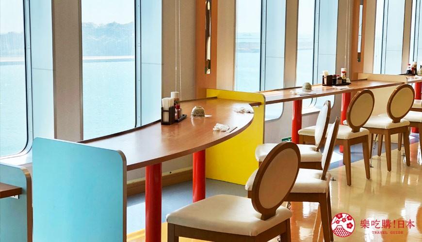 阪九郵輪船上餐廳美食