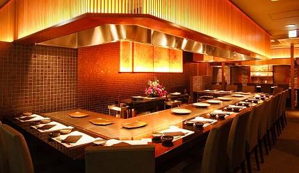 神戶和牛推薦名店「神戶牛排 Ishida.」的店內環境舒適