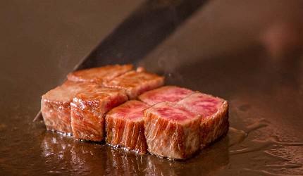 神戶和牛推薦名店「神戶牛排 Ishida.」的「特選 A5 神戶牛套餐」的沙朗牛排