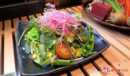 神戶和牛推薦名店「神戶牛排 Ishida.」的「特選 A5 神戶牛套餐」的生菜沙拉