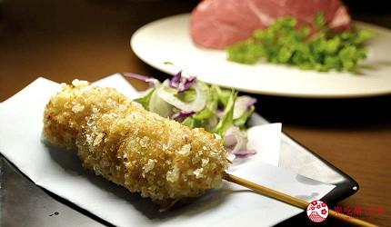 大阪天神橋筋商圈必吃推薦「串炸酒場」的夏多布里昂牛排串炸