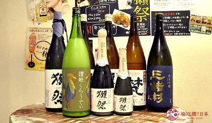 大阪天神橋筋商圈必吃推薦「串炸酒場」的人氣日本酒款