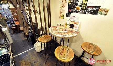 大阪天神橋筋商圈必吃推薦「串炸酒場」的高腳椅區
