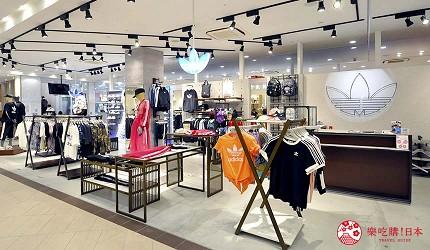 兵库姬路推荐购物商场「piole HIMEJI」的「adidas originals shop」店门口