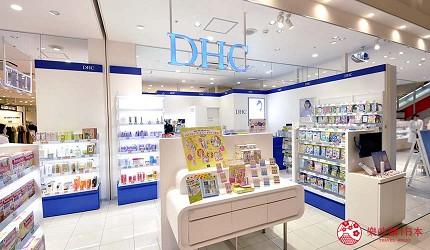 兵庫姬路推薦購物商場「piole HIMEJI」的保養品品牌「DHC」店門口