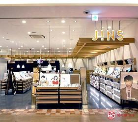 兵库姬路推荐购物商场「piole HIMEJI」的眼镜店「JINS」店门口