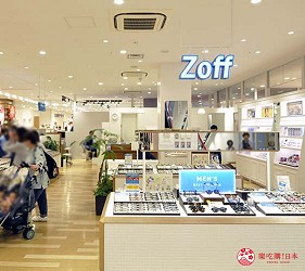 兵库姬路推荐购物商场「piole HIMEJI」的眼镜店「Zoff」店门口