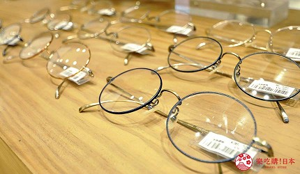 兵库姬路推荐购物商场「piole HIMEJI」的眼镜店「金子眼镜店」贩售的细金属圆框眼镜