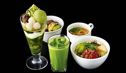 兵庫姬路推薦購物商場「piole HIMEJI」的日本茶室「nana's green tea」的餐點