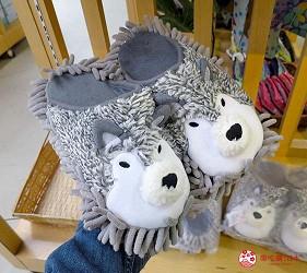 日本關西神戶必去推薦景點「神戶動物王國」的限定伴手禮居家掃地拖鞋