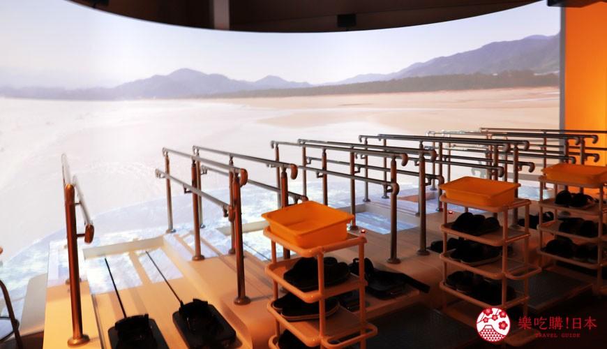 神戶親子寓教於樂景點推薦「人與防災未來中心」(人と防災未来センター)的東館「海嘯避難體驗」