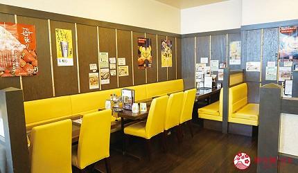奈良用餐推荐近铁奈良站1分钟「NARARA 美食天地」的店家「元祖关西风味文字烧真田」的店内座位