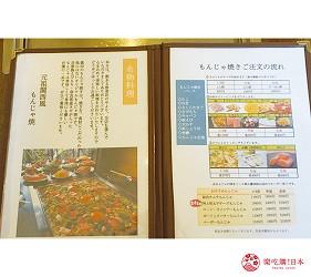 奈良用餐推荐近铁奈良站1分钟「NARARA 美食天地」的店家「元祖关西风味文字烧真田」的店内菜单
