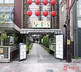 奈良用餐推荐近铁奈良站1分钟「NARARA 美食天地」从近铁奈良站出去的交通方式步骤三