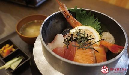 奈良用餐推荐近铁奈良站1分钟「NARARA 美食天地」的店家「滨烧太郎 近铁奈良店」的海鲜丼