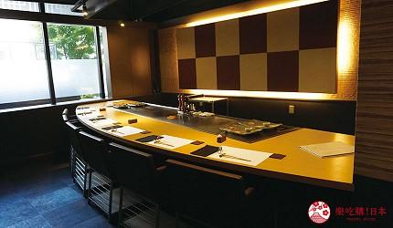 奈良用餐推荐近铁奈良站1分钟「NALALA 美食天地」的店家「和牛铁板烧关」的用餐环境