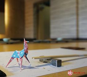 奈良用餐推荐近铁奈良站1分钟「NALALA 美食天地」的店家「和牛铁板烧关」的可爱小鹿折纸