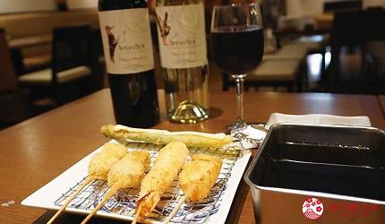 奈良用餐推荐近铁奈良站1分钟「NARARA 美食天地」的店家「串炸大魔神」的串炸套餐