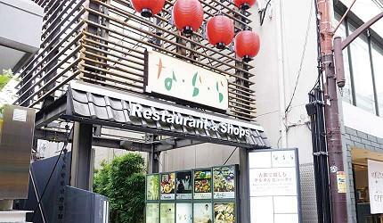 奈良用餐推荐近铁奈良站1分钟「NALALA 美食天地」的入口
