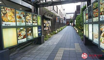 奈良用餐推荐近铁奈良站1分钟「NARARA 美食天地」的入口进入后的小路