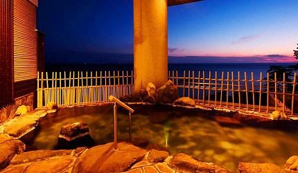 城崎日和山溫泉旅館「金波樓」的泡湯「熱之湯」