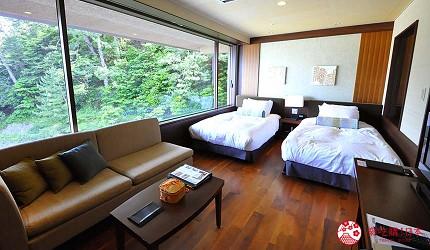 城崎日和山溫泉旅館「金波樓」的「渚之館時じく」的 Moderate 和洋室