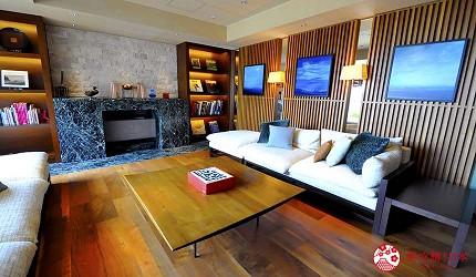 城崎日和山溫泉旅館「金波樓」的渚之館時じく的客廳休息區
