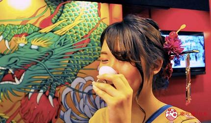 大阪心斋桥花魁酒吧「OIRAN de ENJOU 炎城」的梅花游戏喝罚酒