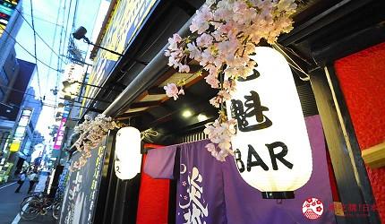大阪心斋桥花魁酒吧「OIRAN de ENJOU 炎城」入口照