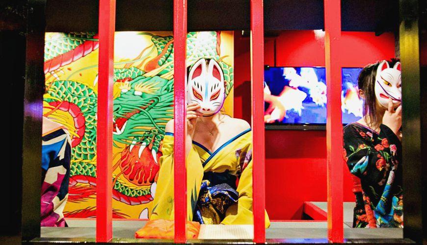 大阪心斋桥花魁酒吧「OIRAN de ENJOU 炎城」超华美!5,000円喝到饱+日本艺妓体验